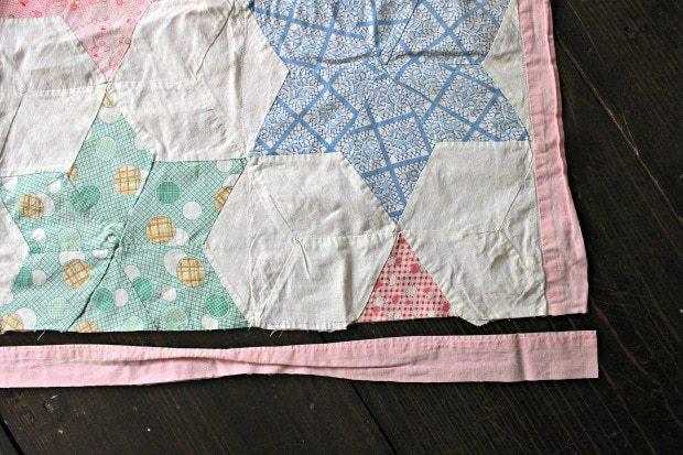vintage quilt binding
