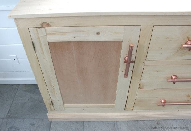 large cabinet doors on sideboard