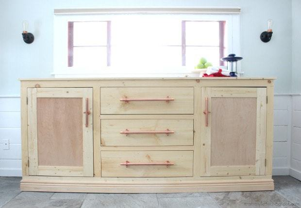 extra long sideboard natural wood
