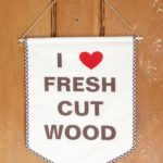 DIY Fresh Cut Wood Banners