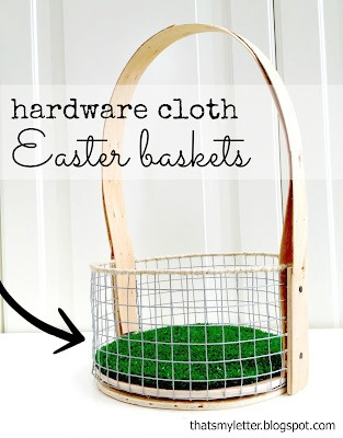 diy Easter basket turf liner