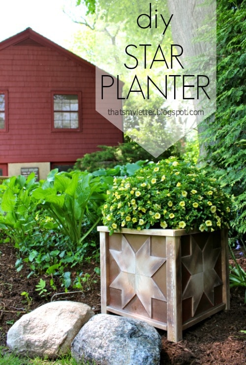 diy outdoor wood planter