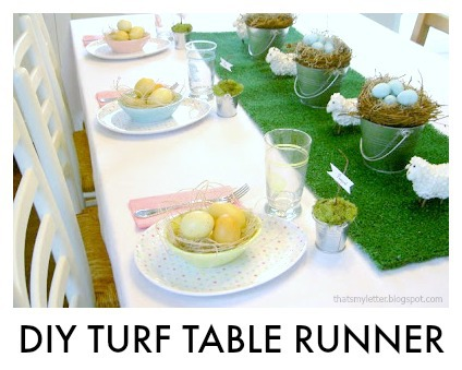 diy turf table runner