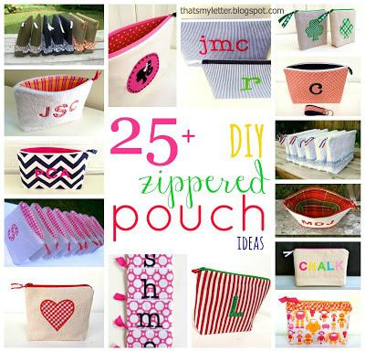 25 diy zippered pouch ideas