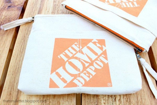 home depot canvas apron zippered pouch