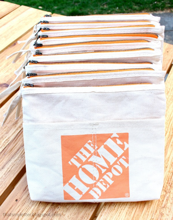 home depot aprons made into pouches