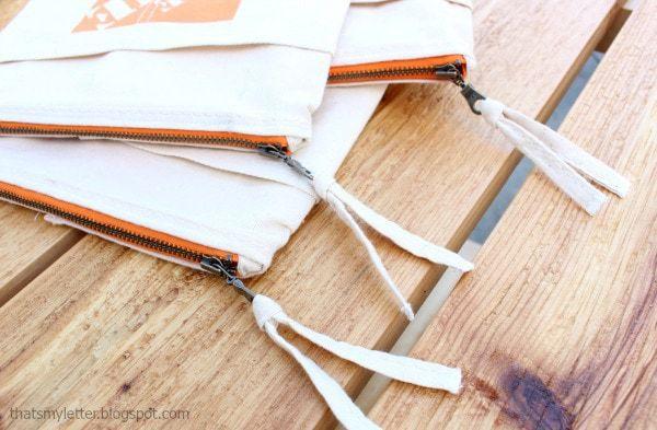 canvas apron string pull tab