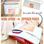 Work Apron to Zippered Pouch