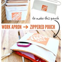 From Work Apron to Zippered Pouch