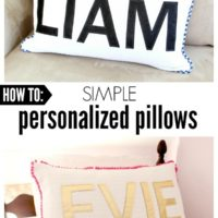DIY Simple Personalized Pillows