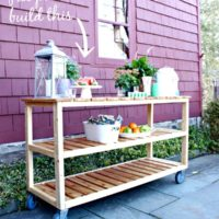 diy outdoor rolling console