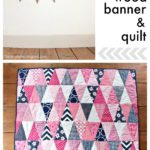 DIY Triangle Wood Banner & Quilt