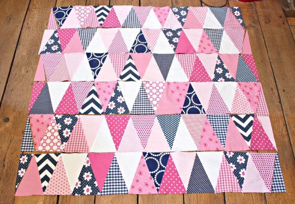 triangle quilt layout