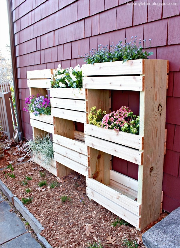 vertical planter interest wall