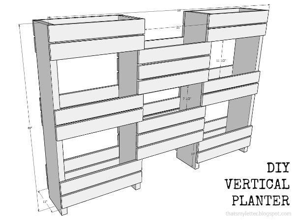 diy vertical planter dimensions
