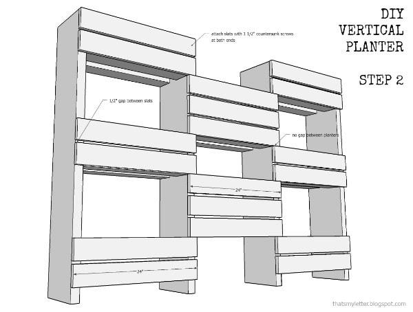 vertical planter step 2