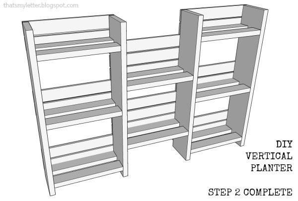 diy planter step 2 complete