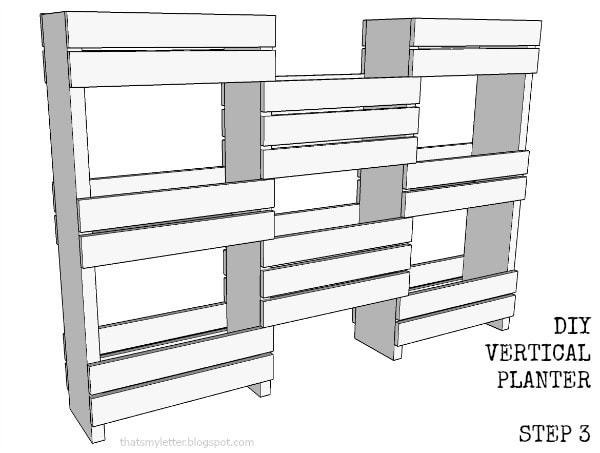 diy vertical planter step 3