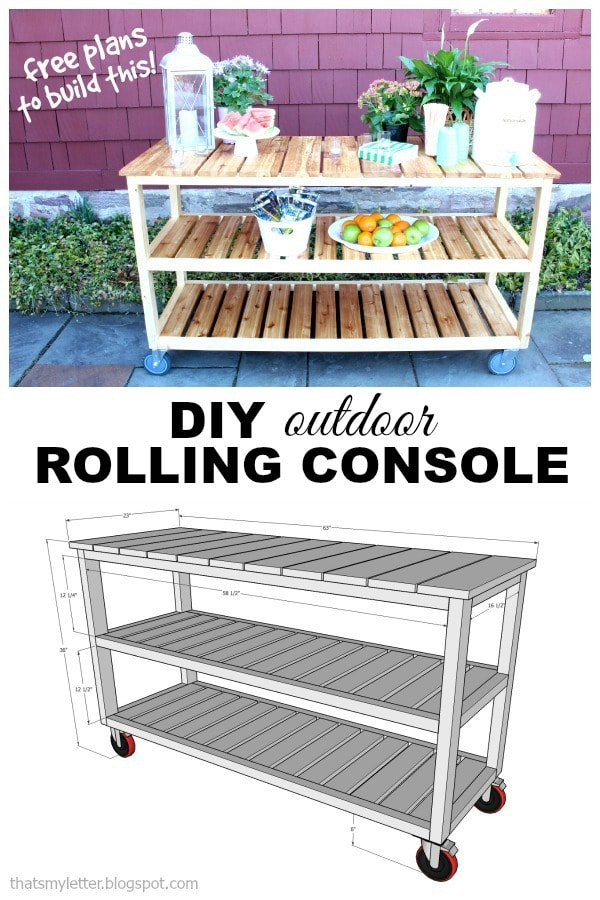 outdoor rolling console free plans