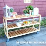 DIY Rolling Console