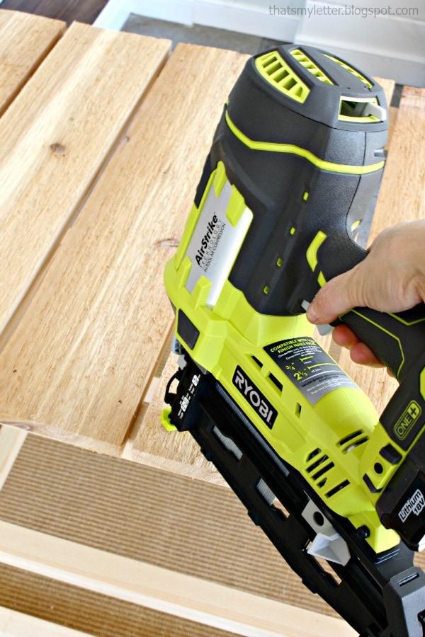 ryobi pneumatic nail gun to attach top boards