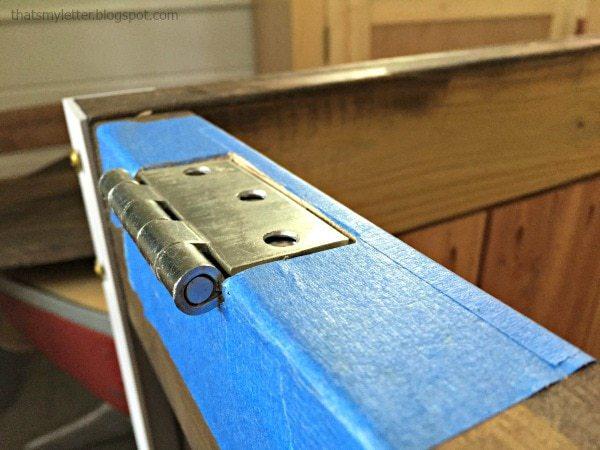 installing hinges for cooler top