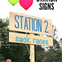 Field Day Station Signs