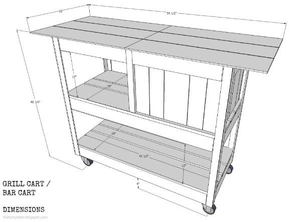 diy grill cart dimensions