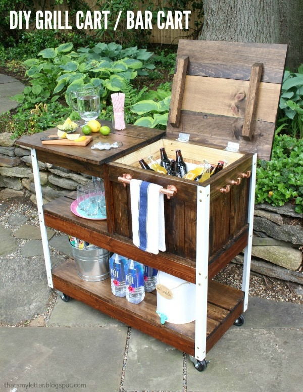 DIY Grill Cart or Bar Cart - Jaime Costiglio on old smokehouse designs, jalapeno designs, backyard fire pit designs, bar b que pit designs, patio bbq island designs, cooking fire pit designs, homemade smoker, diy brick fire pits designs, homemade beach, outdoor barbeque designs, basic designs, homemade grills plans, homemade bbq pits, barbecue pits designs, homemade incinerator, bbq trailer designs, smokehouse plans & designs, homemade backyard grills, brick barbeque designs, homemade cookers grills,