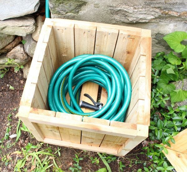 hose inside hose hiding planter