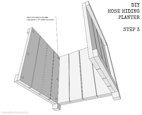 hose hiding portion walls