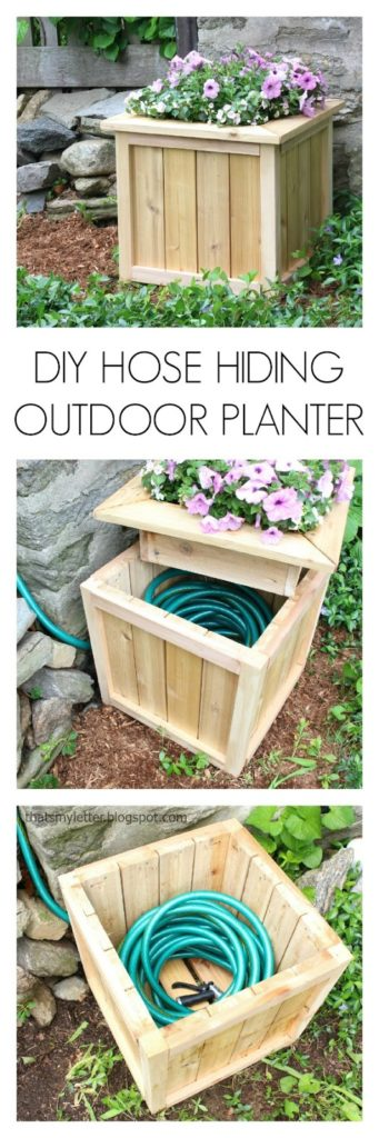diy hose hiding planter free plans