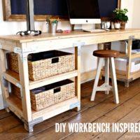 DIY Workbench Inspired Desk