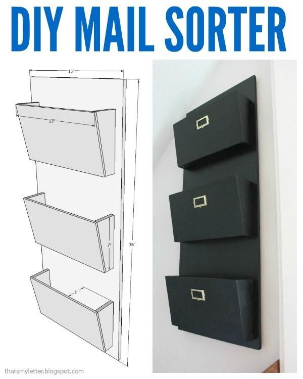 diy mail sorter project plans