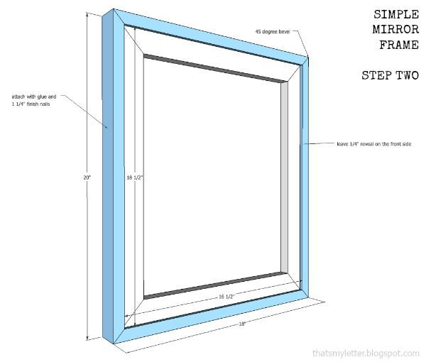 how to build a simple mirror frame