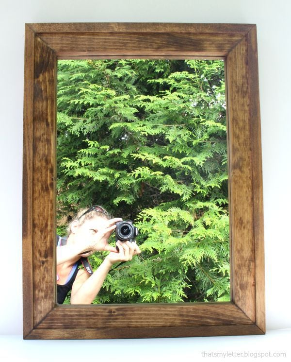 diy simple mirror frame