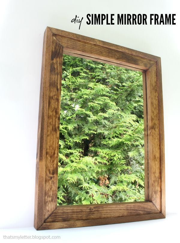 diy simple mirror frame with free plans