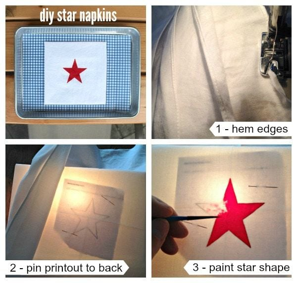 how to make diy star napkins