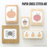 Paper Cross Stitch for Fall (free printable)