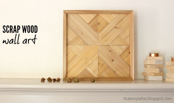 scrap wood wall art