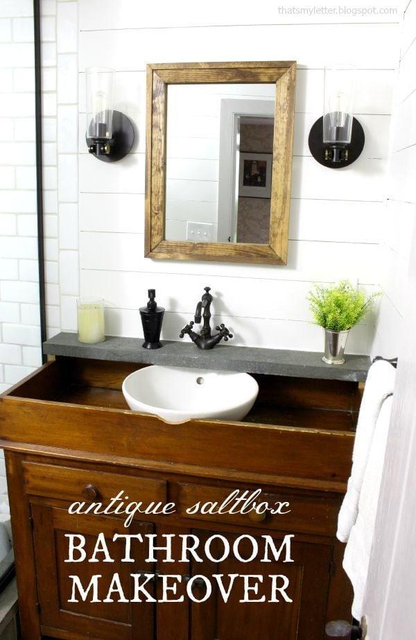 antique farmhouse bathroom makeover