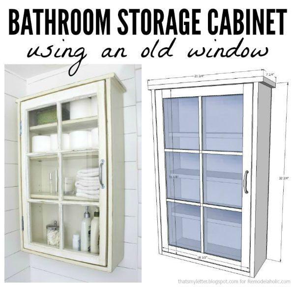 diy bathroom storage cabinet free plans