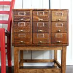 Repurpose It Challenge: Card Catalog Side Table