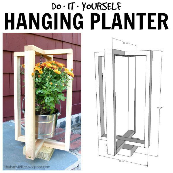 DIY hanging planter with free plans