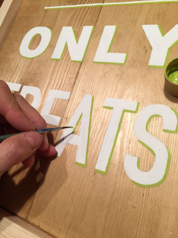 adding shadow to painted letters