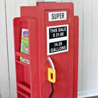 DIY Gas Pump Bookshelf