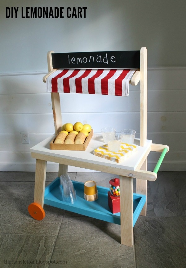 diy kids lemonade cart
