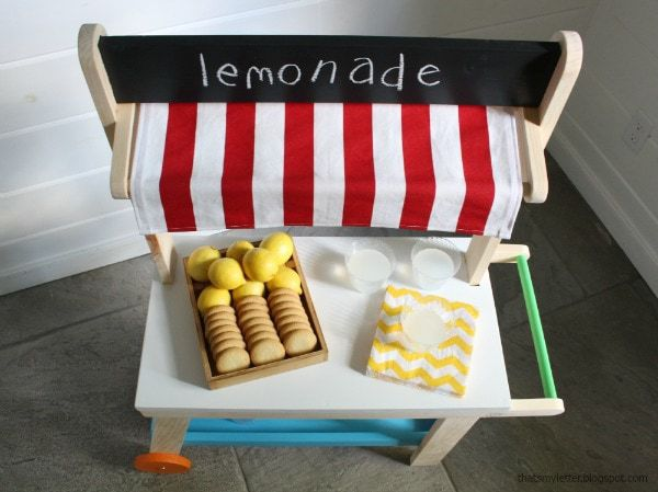 diy lemonade cart