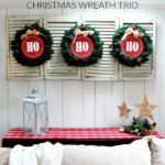DIY Christmas Wreath Trio: Ho Ho Ho