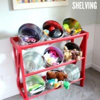 DIY Bucket Shelving